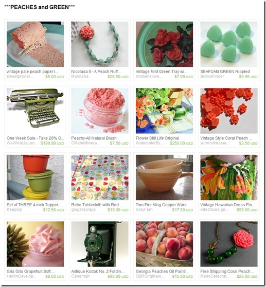 EtsyTreasury-PeachesAndGreen